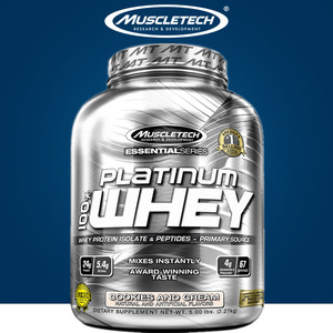 Muscletech Whey 美国肌肉科技乳清蛋白粉5磅白金动物蛋白粉